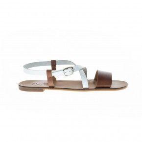 Sandaal wit cognac - 67002AA
