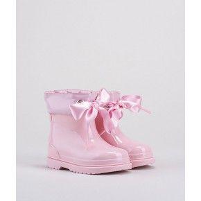 Roze laarsjes strik - W10238-010